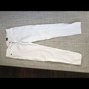 AG white super skinny straight leg jeans